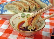 Gyoza table Royalty Free Stock Images