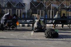 GYPSIES SLEEP ON STREET. Copenhagen / Denmark_ 29th October 2016 _  Former eastern european block gypsies sleep on street.      Photo. Francis Joseph Dean/ Stock Images