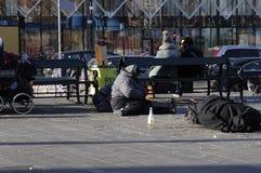 GYPSIES SLEEP ON STREET. Copenhagen / Denmark_ 29th October 2016 _  Former eastern european block gypsies sleep on street.      Photo. Francis Joseph Dean/ Stock Photos