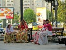 Gypsies talking Royalty Free Stock Photos