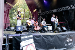 """""""Gypsophilia† Abschiedsausflug im Montreal Jazz Festival, im Juli 2017 lizenzfreie stockbilder"""