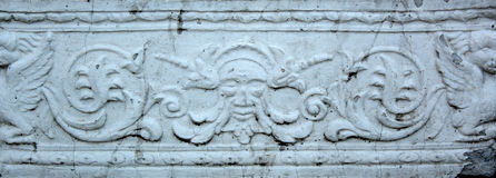 Gypsum bas-relief Stock Photos