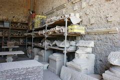 Gypsum Deadman in Pompeii Stock Photos
