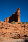 Gypsum deposit layers in red rock at caprock canyon texas usa Stock Image