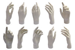 Gypsum hands Stock Photo