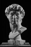 Gypsum head of Michelangelo's David royalty free stock photo