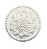 gypsum isolerad dekorativ tracery arkivfoto