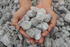 Gypsum mine Stock Images