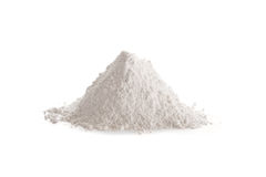 Gypsum plaster, also called Plaster of Paris or calcined gypsum Stock Photos