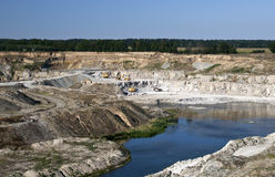 Gypsum quarry Stock Photos