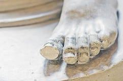 Gypsum Statue - Foot Stock Image