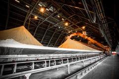 Gypsum storage hall Royalty Free Stock Image