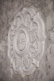 Gypsum tracery art texture with handmade details Royalty Free Stock Images