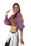 Gypsy. A gypsy woman dancing and using typical clothes Stock Photo