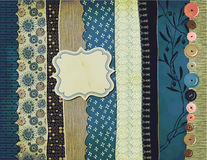Gypsy Background with Pattern Scraps Stock Photos