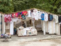 The Gypsy Bazaar is located not far from the Pelesh castle in Sinaia in Romania Stock Photos