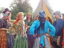 Gypsy camp Stock Photo