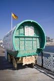 Gypsy Caravan. Old Gypsy caravan on Brighton Pier royalty free stock images
