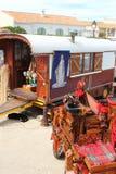 Gypsy caravan in Saintes Maries de la Mer, Camargue, France Stock Images