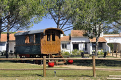 Gypsy caravan used as decoration Stock Images
