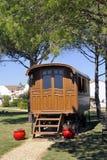 Gypsy caravan used as decoration Stock Photos