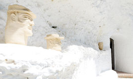 Gypsy Cave white wall decoration in Sacromonte, Granada, Spain Stock Photography