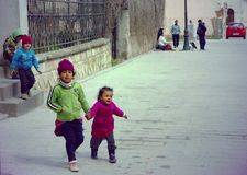 Gypsy children Stock Image