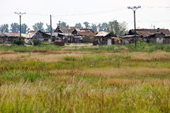 Gypsy colony. In eastern Slovakia royalty free stock photos