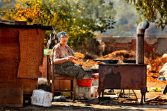 Gypsy cook Stock Image