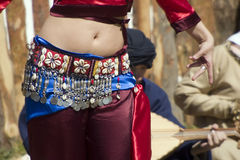Gypsy dancer. Gypsy street dancer dressed in traditional costume Royalty Free Stock Image