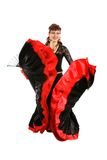 Gypsy dancer. Gypsy woman dancing with fan Royalty Free Stock Photography