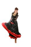 Gypsy dancer. Gypsy woman dancing with fan Royalty Free Stock Image