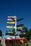 Gypsy fair sign post Royalty Free Stock Images
