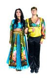 Gypsy flamenco dancer couple Stock Photo