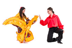 Gypsy flamenco dancer couple Stock Image