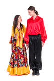 Gypsy flamenco dancer couple Stock Photo