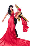 Gypsy flamenco dancer couple Stock Images