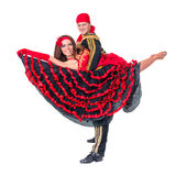 Gypsy flamenco dancer couple Royalty Free Stock Photography