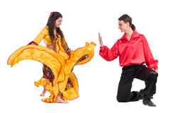 Gypsy flamenco dancer couple Stock Photography