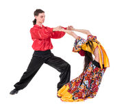 Gypsy flamenco dancer couple Royalty Free Stock Images