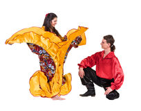 Gypsy flamenco dancer couple Royalty Free Stock Photography