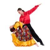 Gypsy flamenco dancer couple Royalty Free Stock Photos