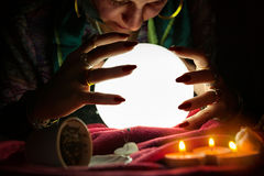 Gypsy fortune teller tell fortunes Stock Photos