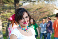 Gypsy Girl. A fashion girl enjoying the gypsy's day party Royalty Free Stock Photography