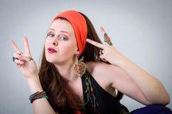 Gypsy girl portrait Royalty Free Stock Photo