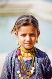 Gypsy Girl in Pushkar, Rajasthan India stock photography