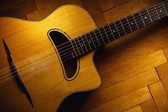 Gypsy Guitar on Parquet Stock Image