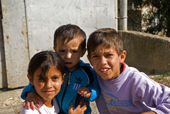 Gypsy kids, Janjevo, Kosovo Stock Photos
