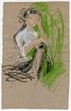 gypsy kobieta ilustracja wektor