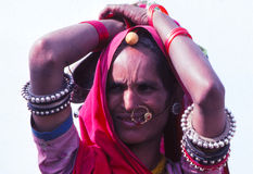 Gypsy lady, Rajasthan India Stock Images